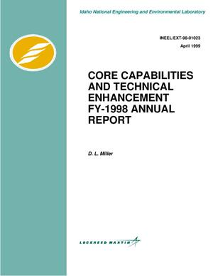 Primary view of object titled 'Core capabilities and technical enhancement, FY-98 annual report'.