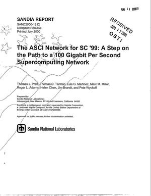Primary view of object titled 'The ASCI Network for SC '99: A Step on the Path to a 100 Gigabit Per Second Supercomputing Network'.