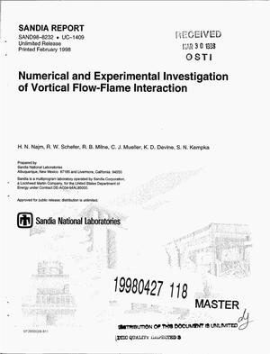 Primary view of object titled 'Numerical and experimental investigation of vortical flow-flame interaction'.