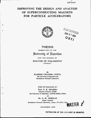 Primary view of object titled 'Improving the design and analysis of superconducting magnets for particle accelerators'.