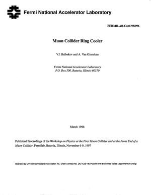 Primary view of object titled 'Muon collider ring cooler'.