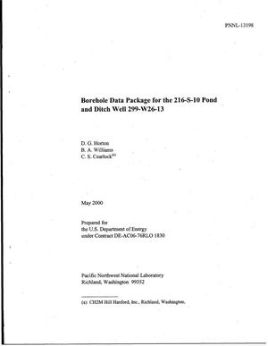 Primary view of object titled 'Borehole data package for the 216-S-10 pond and ditch well 299-W26-13'.