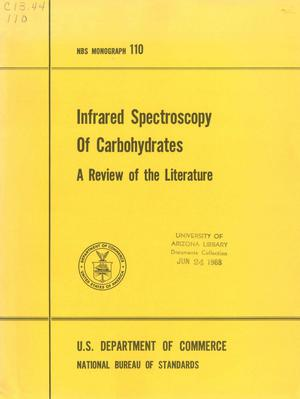 Primary view of object titled 'Infrared Spectroscopy of Carbohydrates: A Review of the Literature'.
