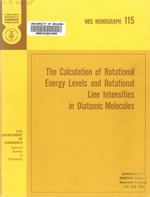 Primary view of object titled 'The Calculation of Rotational Energy Levels and Rotational Line Intensities in Diatomic Molecules'.