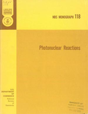 Primary view of object titled 'Photonuclear Reactions'.