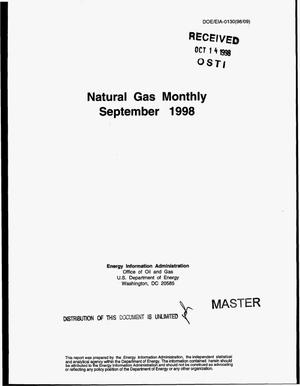 Primary view of object titled 'Natural gas monthly, September 1998'.