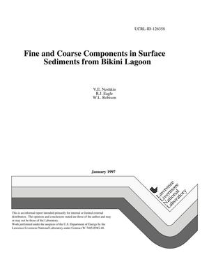 Primary view of object titled 'Fine and coarse components in surface sediments from Bikini Lagoon'.