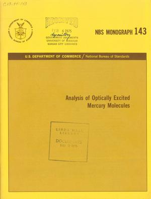 Primary view of object titled 'Analysis of Optically Excited Mercury Molecules'.