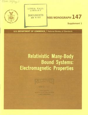 Primary view of object titled 'Relativistic Many-Body Bound Systems: Electromagnetic Properties'.