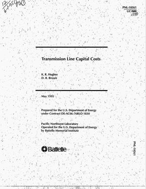 Primary view of object titled 'Transmission line capital costs'.