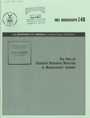 Primary view of object titled 'The Role of Standard Reference Materials in Measurement Systems'.