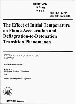 Primary view of object titled 'The effect of initial temperature on flame acceleration and deflagration-to-detonation transition phenomenon'.