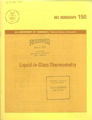 Primary view of object titled 'Liquid-in-Glass Thermometry'.