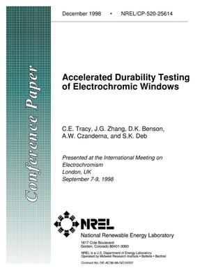 Primary view of object titled 'Accelerated Durability Testing of Electrochromic Windows'.