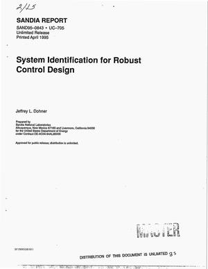 Primary view of object titled 'System identification for robust control design'.