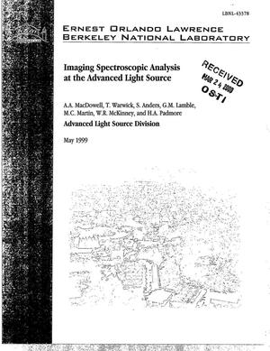 Primary view of object titled 'Imaging spectroscopic analysis at the Advanced Light Source'.