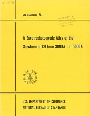 Primary view of object titled 'A Spectrophotometric Atlas of the Spectrum of CH from 3000A to 5000A'.
