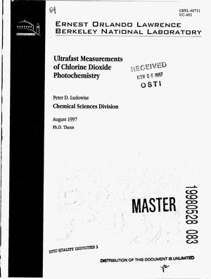 Primary view of object titled 'Ultrafast measurements of chlorine dioxide photochemistry'.