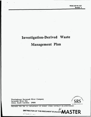 Primary view of object titled 'Investigation-Derived Waste Management Plan. Revision 2'.