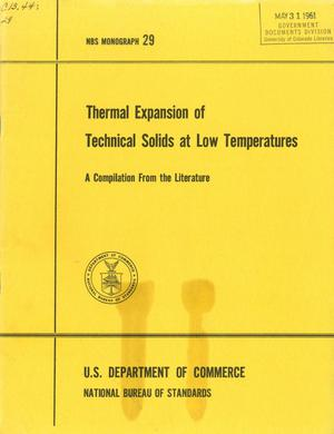 Primary view of object titled 'Thermal Expansion of Technical Solids at Low Temperatures: A Compilation From the Literature'.