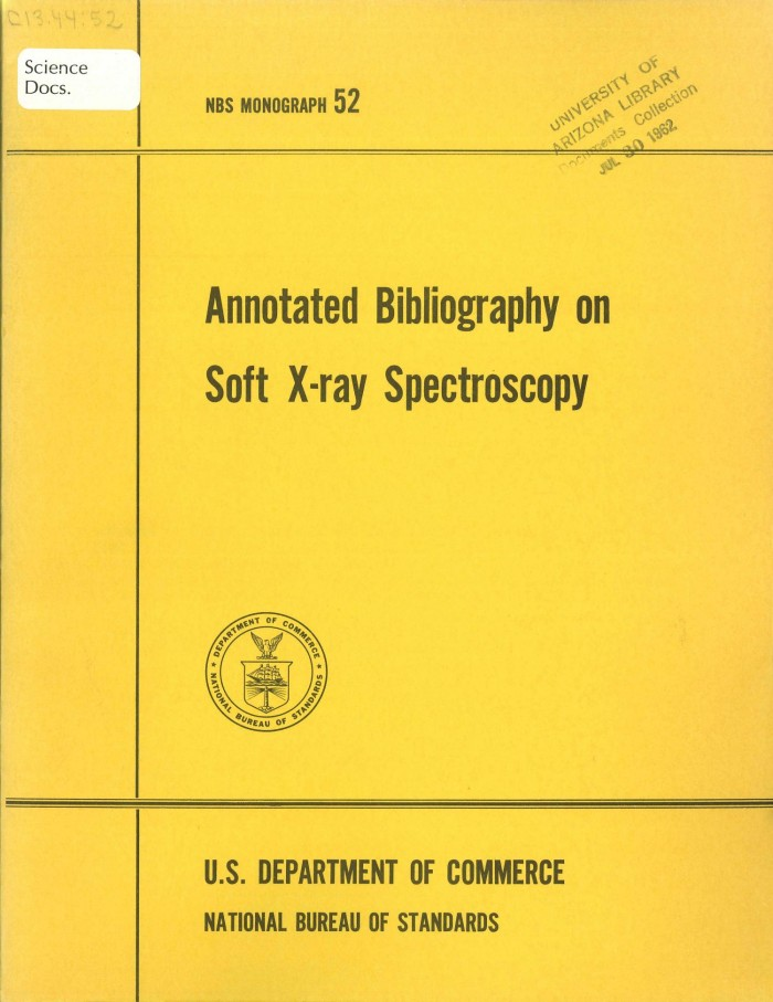 Annotated Bibliography on Soft X-ray Spectroscopy - Digital Library