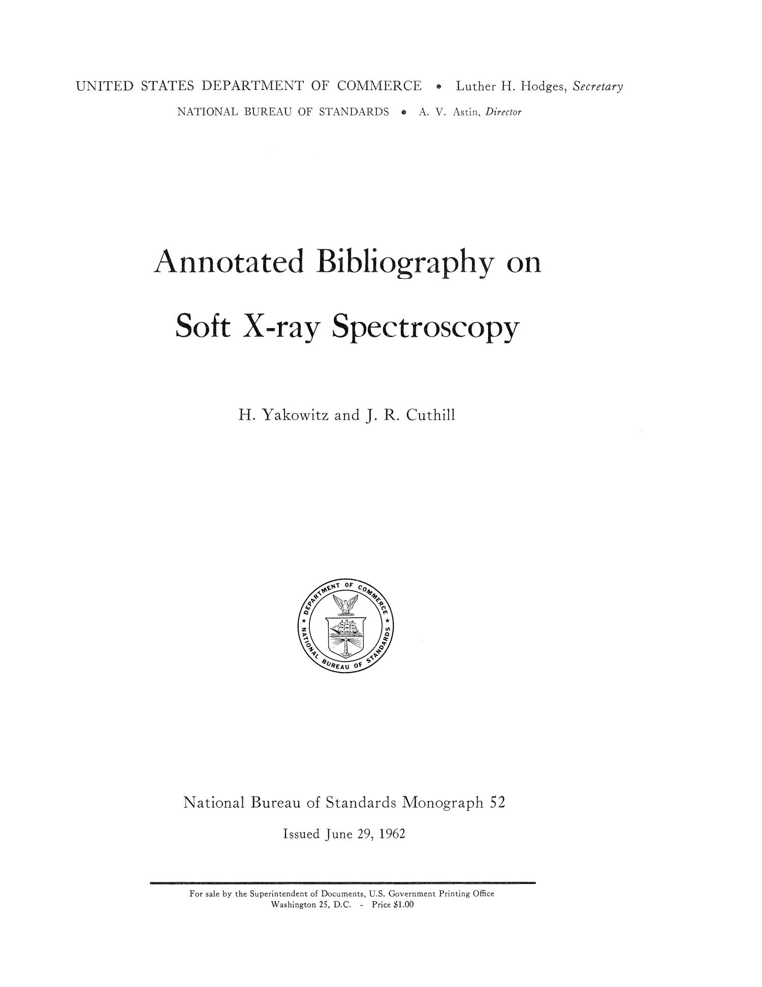 annotated bibliography on soft x-ray spectroscopy
