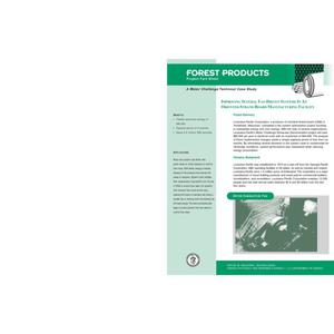 Primary view of object titled 'Forest Products: Improving Several Fan-Driven Systems in an Oriented-Strand Board Manufacturing Facility'.