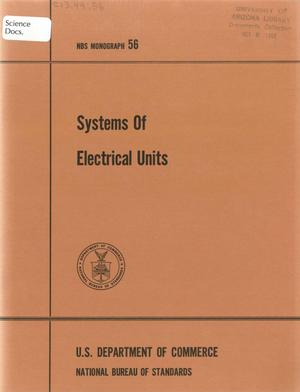Primary view of object titled 'Systems of Electrical Units'.