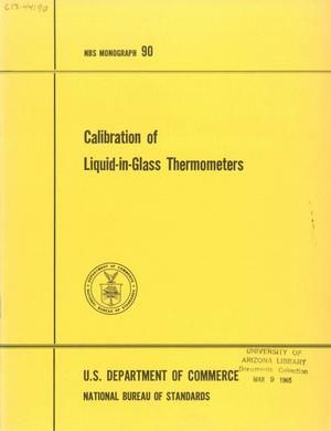 Primary view of object titled 'Calibration of Liquid-in-Glass Thermometers'.