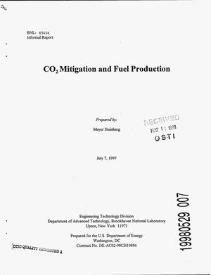 Primary view of object titled 'CO{sub 2} mitigation and fuel production'.