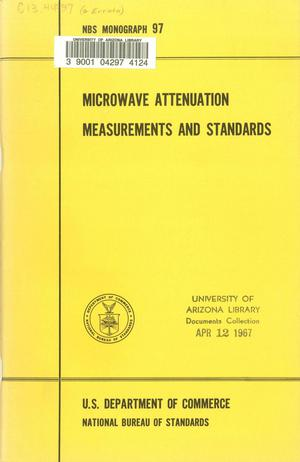 Primary view of object titled 'Microwave Attenuation Standards and Measurements'.
