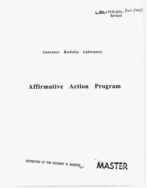 Primary view of object titled 'Lawrence Berkeley Laboratory Affirmative Action Program. Revised'.