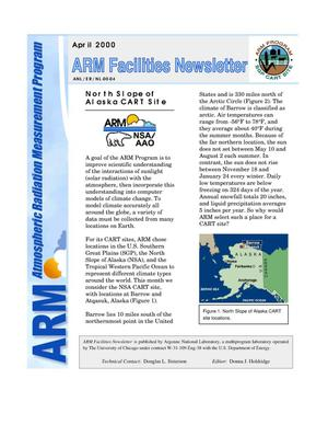 Primary view of object titled 'Atmospheric Radiation Measurement Program facilities newsletter, April 2000'.