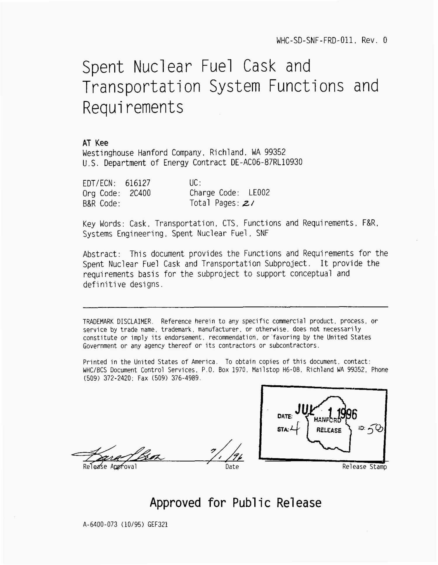 Spent nuclear fuel cask and transportation system functions and requirements                                                                                                      [Sequence #]: 2 of 22