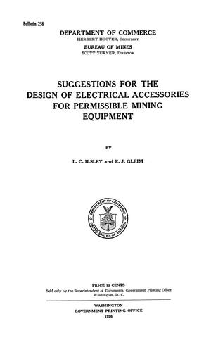 Primary view of Suggestions for the Design of Electrical Accessories for Permissible Mining Equipment
