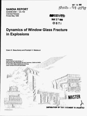 Primary view of object titled 'Dynamics of window glass fracture in explosions'.