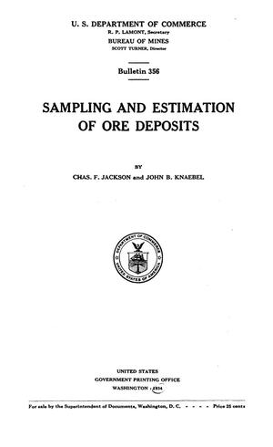 Primary view of object titled 'Sampling and Estimation of Ore Deposits'.