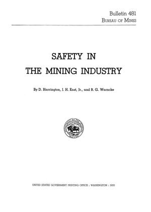 Primary view of object titled 'Safety in the Mining Industry'.
