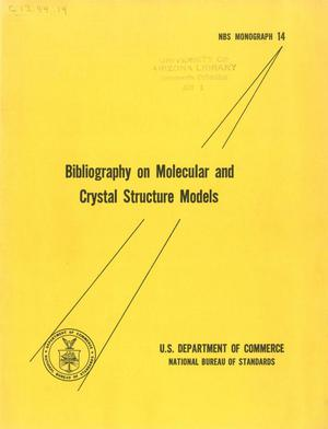 Bibliography on Molecular and Crystal Structure Models