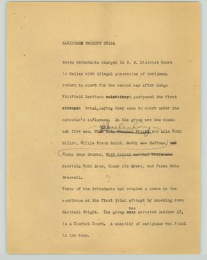 Primary view of object titled '[News Script: 1951-11-30]'.