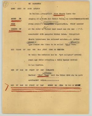 Primary view of object titled '[News Script: Ex gangster]'.