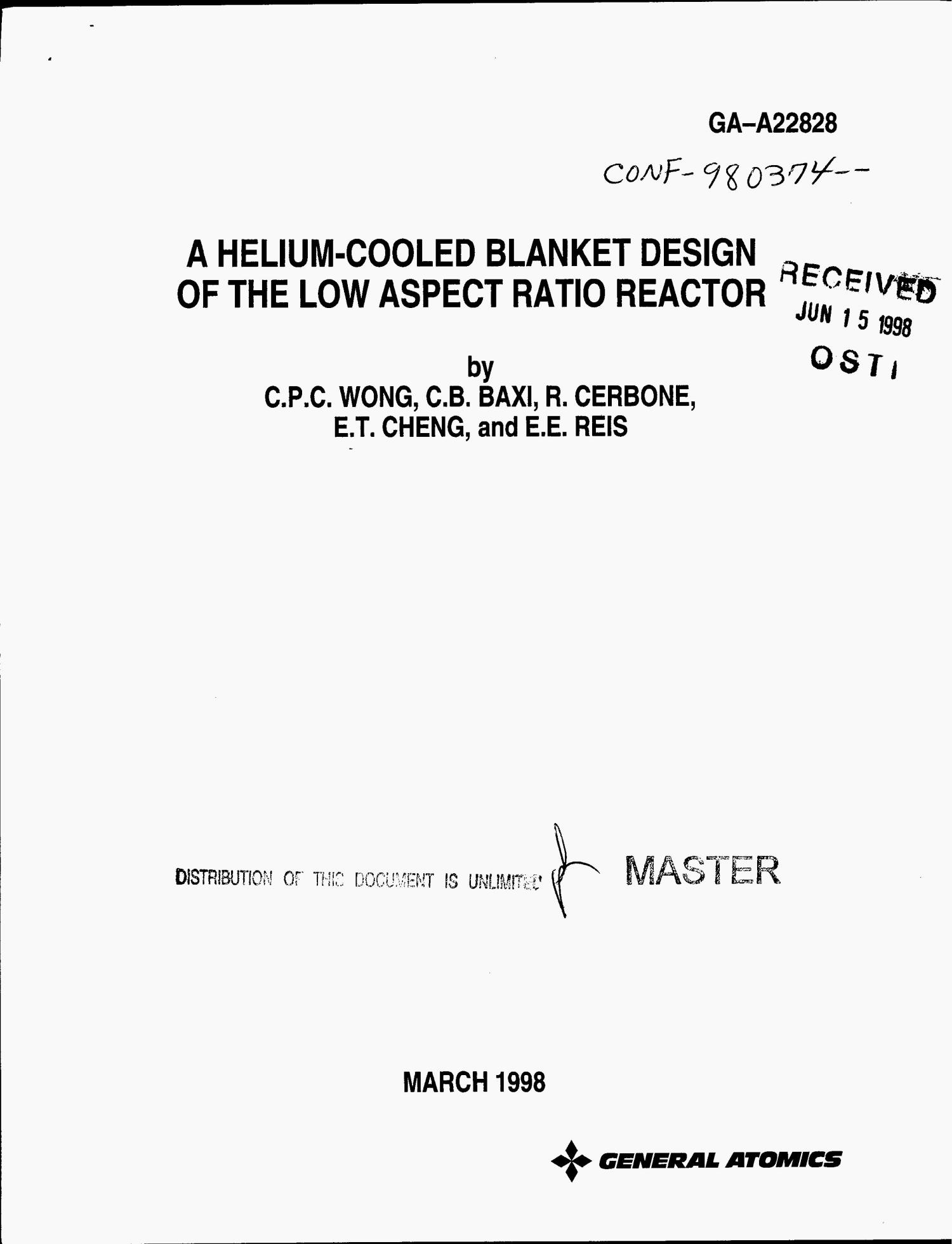A helium-cooled blanket design of the low aspect ratio reactor                                                                                                      [Sequence #]: 1 of 25