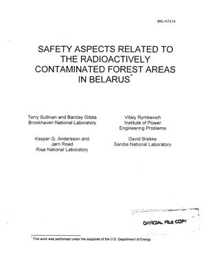 Primary view of object titled 'SAFETY ASPECTS RELATED TO THE RADIOACTIVELY CONTAMINATED FOREST AREAS IN BELARUS'.