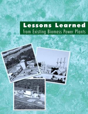 Primary view of object titled 'Lessons learned from existing biomass power plants'.
