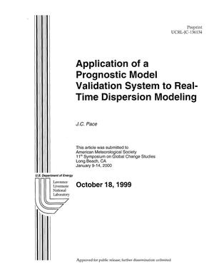 Primary view of object titled 'Application of a prognostic model validation system to real-time dispersion modeling'.