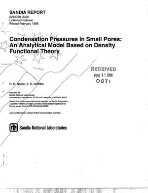 Primary view of object titled 'Condensation pressures in small pores: An analytical model based on density functional theory'.