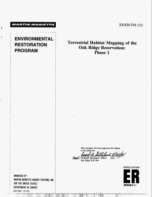 Primary view of object titled 'Terrestrial mapping of the Oak Ridge Reservation: Phase 1. Environmental Restoration Program'.