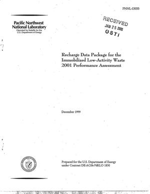 Primary view of object titled 'Recharge Data Package for the Immobilized Low-Activity Waste 2001 Performance Assessment'.
