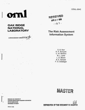 Primary view of object titled 'The risk assessment information system'.