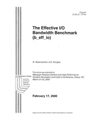 Primary view of object titled 'The effective I/O bandwidth benchmark (b{_}eff{_}io)'.